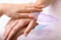 μασάζ χεριών Στοκ Φωτογραφίες