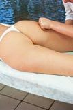 Μασάζ Anticellulite για τη γυναίκα Στοκ Εικόνες