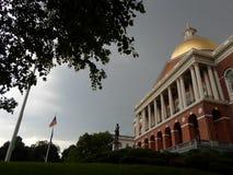 Μασαχουσέτη Βουλή, Hill αναγνωριστικών σημάτων, Βοστώνη, Μασαχουσέτη, ΗΠΑ Στοκ φωτογραφία με δικαίωμα ελεύθερης χρήσης