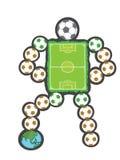 Μασκότ γηπέδων ποδοσφαίρου και ο κόσμος Στοκ φωτογραφία με δικαίωμα ελεύθερης χρήσης