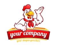 Μασκότ κοτόπουλου ή χαρακτήρας κοτόπουλου, κατάλληλη για το λεωφορείο εστιατορίων στοκ εικόνες