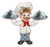 Μασκότ χαρακτήρα κινουμένων σχεδίων Cook αρχιμαγείρων Στοκ Φωτογραφία