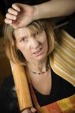 ματαιωμένη αρτοποιός γυναίκα Στοκ Εικόνα