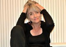 Ματαιωμένη ηλικιωμένη γυναίκα Στοκ Εικόνες
