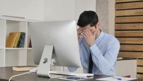 Ματαιωμένος νέος επιχειρηματίας στην εργασία, απώλεια φιλμ μικρού μήκους