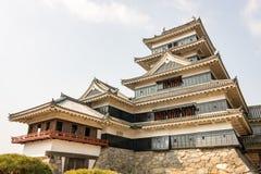 Ματσουμότο Castle, θερινό απόγευμα στοκ εικόνα