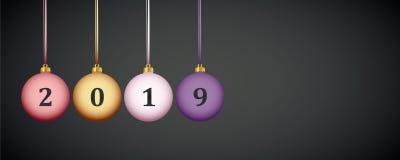 Ματ σφαίρες Χριστουγέννων ουράνιων τόξων χρωματισμένες κρητιδογραφία απεικόνιση αποθεμάτων