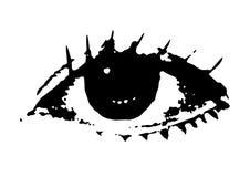 Μαυρισμένο μάτι Στοκ εικόνες με δικαίωμα ελεύθερης χρήσης