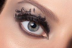 Μαυρισμένο μάτι makeup Στοκ Εικόνα