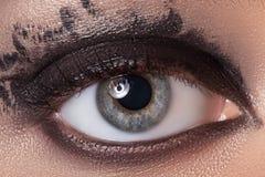 Μαυρισμένο μάτι makeup Στοκ φωτογραφία με δικαίωμα ελεύθερης χρήσης