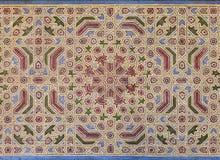 Μαυριτανική ζωγραφική στο ξύλινο ανώτατο όριο Στοκ Εικόνα