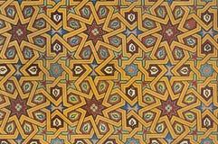 Μαυριτανική ζωγραφική στο ξύλο Στοκ Φωτογραφία