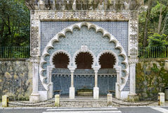Μαυριτανική πηγή, Sintra, Πορτογαλία στοκ εικόνες
