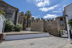 Μαυριτανικό κάστρο του Λα Frontera Vejer de σε Ανδαλουσία Στοκ φωτογραφία με δικαίωμα ελεύθερης χρήσης