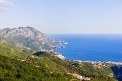 Μαυροβούνιο από το ύψος της πτήσης στοκ φωτογραφία