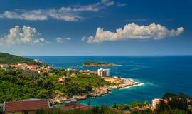 Μαυροβούνιο, αδριατικό όμορφο τοπίο θάλασσας Στοκ Εικόνες