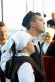 Μαυροβούνιο, ο Νοέμβριος Herceg - 28/05/2016: Αγόρι και κορίτσι του λαϊκού συνόλου Rakalj από την πόλη Rakalj, Κροατία Στοκ Φωτογραφίες