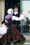 Μαυροβούνιο, Herceg Novi - 28/05/2016: Λαϊκή ομάδα Iskraemeco χορού από Kranj, Σλοβενία Στοκ Φωτογραφία