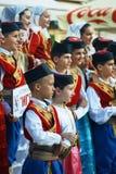 Μαυροβούνιο, Herceg Novi - 28/05/2016: Παιδιά του λαϊκού συνόλου Igalo Στοκ Εικόνα
