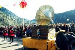 Μαυροβούνιο, Kotor - 03/13/2016: Ένας μεγάλος αριθμός gramophone Στοκ Εικόνα