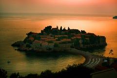 Μαυροβούνιο ST Stefan στοκ εικόνα