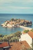 Μαυροβούνιο Sveti Stefan Στοκ φωτογραφία με δικαίωμα ελεύθερης χρήσης