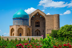 Μαυσωλείο Turkistan, Καζακστάν Στοκ Εικόνες