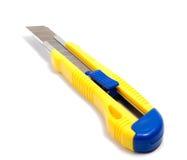 Μαχαίρια για το έγγραφο που απομονώνεται στο άσπρο υπόβαθρο στοκ εικόνα