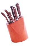 μαχαίρια κουζινών που τίθ&eps Στοκ φωτογραφία με δικαίωμα ελεύθερης χρήσης