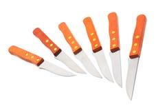 μαχαίρια κουζινών που τίθ&eps Στοκ Φωτογραφίες
