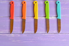 Μαχαίρια κουζινών που χρησιμοποιούνται για το μαγείρεμα Στοκ Φωτογραφίες