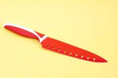 Μαχαίρια κουζινών στην κίτρινη ανασκόπηση Στοκ φωτογραφίες με δικαίωμα ελεύθερης χρήσης