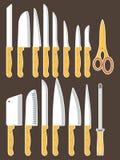 μαχαίρια που τίθενται Στοκ εικόνες με δικαίωμα ελεύθερης χρήσης