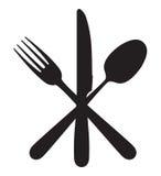 Μαχαίρι, δίκρανο και κουτάλι Στοκ φωτογραφίες με δικαίωμα ελεύθερης χρήσης