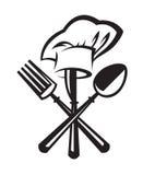 Μαχαίρι, δίκρανο και κουτάλι Στοκ εικόνες με δικαίωμα ελεύθερης χρήσης