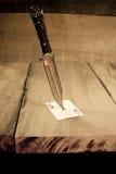 μαχαίρι αρσενικών ελαφιών Στοκ Φωτογραφίες