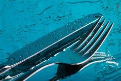 μαχαίρι δικράνων κάτω Στοκ φωτογραφία με δικαίωμα ελεύθερης χρήσης