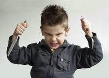 μαχαίρι δικράνων παιδιών Στοκ εικόνες με δικαίωμα ελεύθερης χρήσης