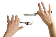 μαχαίρι δικράνων Στοκ εικόνα με δικαίωμα ελεύθερης χρήσης