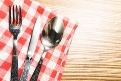 Μαχαίρι δικράνων και πινάκων Στοκ Φωτογραφία