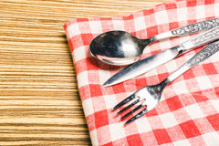 Μαχαίρι δικράνων και πινάκων Στοκ εικόνες με δικαίωμα ελεύθερης χρήσης