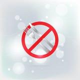 Μαχαίρι και δίκρανο Απαγορευμένα απαγόρευση κόκκινα σύμβολα Στοκ Φωτογραφία
