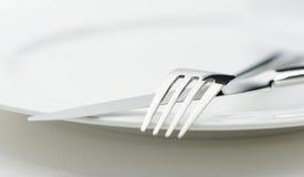 Μαχαίρι και δίκρανο Στοκ φωτογραφία με δικαίωμα ελεύθερης χρήσης