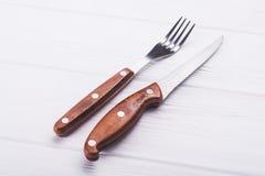 Μαχαίρι και δίκρανο Στοκ εικόνα με δικαίωμα ελεύθερης χρήσης