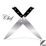 Μαχαίρι κουζινών αρχιμαγείρων Στοκ Εικόνες