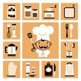 μαχαίρι κουζινών δικράνων εξοπλισμού Στοκ Εικόνα