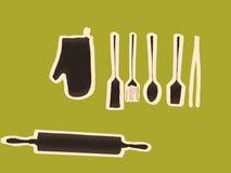 μαχαίρι κουζινών δικράνων εξοπλισμού Στοκ Εικόνες
