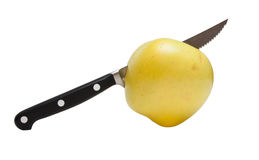 μαχαίρι κουζινών μήλων Στοκ φωτογραφία με δικαίωμα ελεύθερης χρήσης