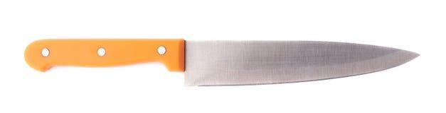 Μαχαίρι κουζινών χάλυβα που απομονώνεται Στοκ Φωτογραφία