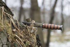 μαχαίρι κυνηγιού Στοκ εικόνες με δικαίωμα ελεύθερης χρήσης